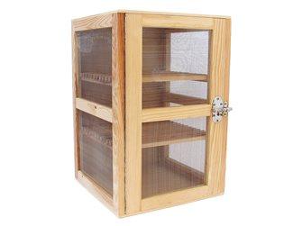 Garde manger fromager bois naturel 40x40x60 cm