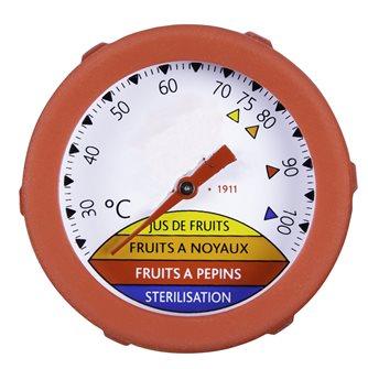 Termometro a immersione con gambo da 25 cm quadrante e guarnizione silicone